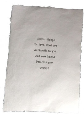 Poster A4 Collect things you love