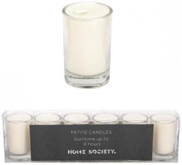 Home Society - Votive Mini Candle - Creme - set van 6