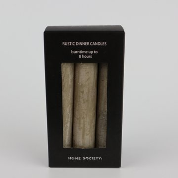 Home Society Rustic dinner candles Taupe