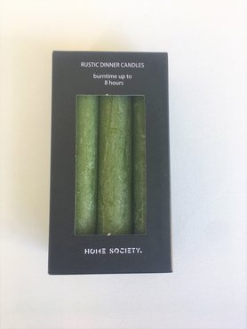 Home Society Rustic dinner candles Groen